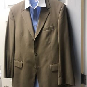 Olive Suit 41 Regular, cuffed pants